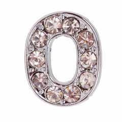 Rhinestone number 0 with 14 mm