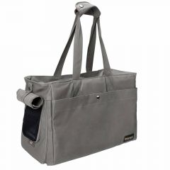 Gray dog bag made of high quality canvas
