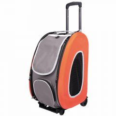 Orange dog trolley for pets