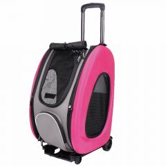 Pink dog trolley for pets