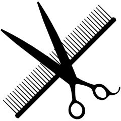 Scissors and comb stickers - Stickers for advertising and decorating your dog salon
