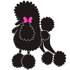 Dog sticker - chic poodle sticker for the dog salon and poodle lover