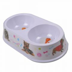 Double pet bowl 2 x 200 ml Doggie
