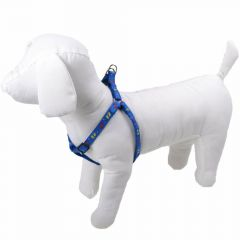 Mini dog harness blue with feet