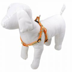 "Mini dog harness orange - ""Good Morning"""
