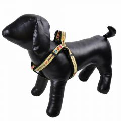 "Dog harness black - ""Good Morning"" M"