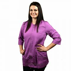 Dog hairdresser blouse purple