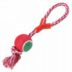 GogiPet ® dog toy for throwing or pulling with tennis ball