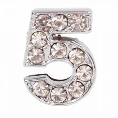 Rhinestone number 5 with 14 mm
