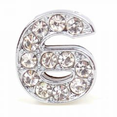 Rhinestone number 6 with 14 mm