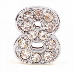 Rhinestone number 8 with 14 mm