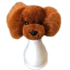 Red brown coat for basic dog head for training (dog wig)