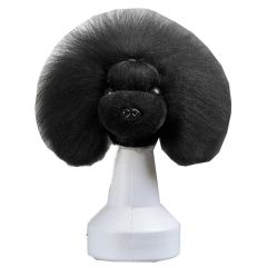 Black coat for the base dog head for training (dog wig)