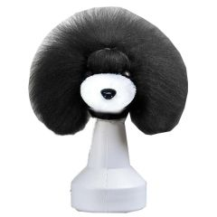 Black fur white for basic dog head for training (dog wig)