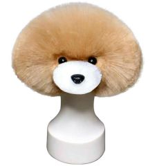 Hairpiece apricot for basic dog head for training (dog wig)