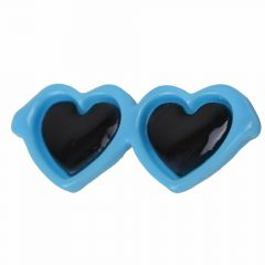 Sunglasses for dogs as hair clip of GogiPet® in fresh blue