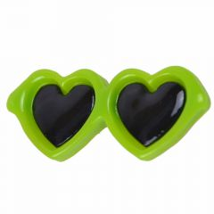Sunglasses for dogs as hair clip of GogiPet® in rich green