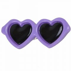 Sunglasses for dogs as hair clip of GogiPet® in violet