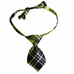 Tie for dogs green, black squared by GogiPet