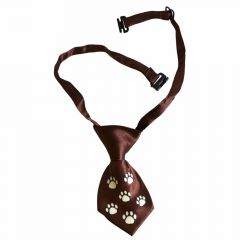 Tie for dogs brown with white paws by GogiPet
