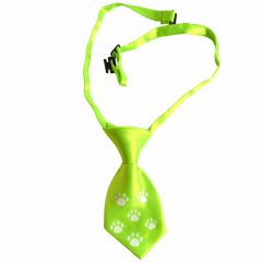 Tie for dogs light green with white paws by GogiPet