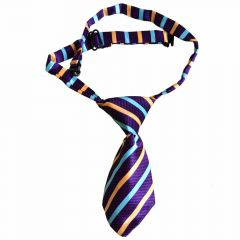 Tie for dogs purple, yellow, blue striped by GogiPet