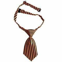 Tie for dogs black, orange striped by GogiPet