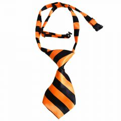 Tie for dogs orange, black striped by GogiPet