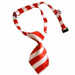 Tie for dogs red, white striped by GogiPet
