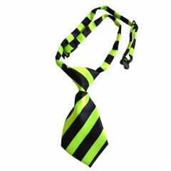 Tie for dogs black, green striped by GogiPet