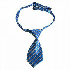 Tie for dogs blue, gray striped by GogiPet