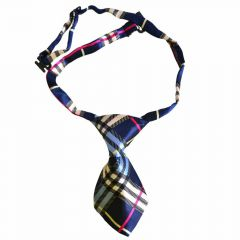 Tie for dogs blue checkered by GogiPet
