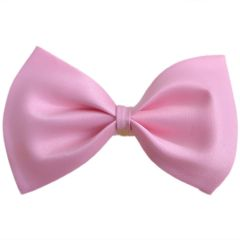Pink Dog Bow Tie - Cotton Self Tie Bow for Pets