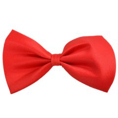 Red Dog Bow Tie - Cotton Self Tie Bow for Pets