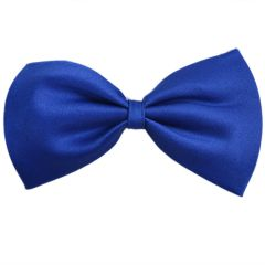 Royal Blue Dog Bow Tie - Cotton Self Tie Bow for Pets