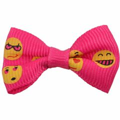 Handmade dog bow Dark Pink Smiley by GogiPet