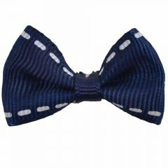 Handmade dog bow Adora dark blue by GogiPet