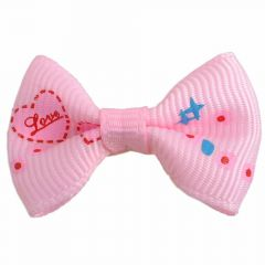 "Handmade dog bow ""Corazón II light pink"" by GogiPet"