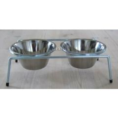 Bowls and water bowls in stainless steel - 30% Onlinezoo