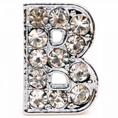 B rhinestone letter with 14 mm