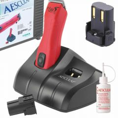 Aesculap Fav 5 CL GT306 with 2 batteries, blade 1,5 mm, Charging station, clipper oil, case and plug
