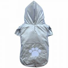 Silver-colored raincoat for large dogs by DoggyDolly BD011