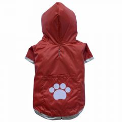 Red raincoat for large dogs