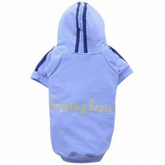 warm dog clothes for large dogs - Big Dog Dog sweater with hood Hello winter pink