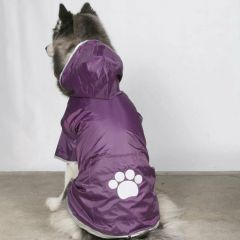 Purple dog raincoat - DoggyDolly BD122