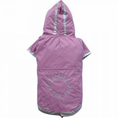 pink dog raincoat for large dogs by DoggyDolly