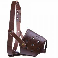 Muzzle for short noses M - GogiPet ® Genuine leather muzzle