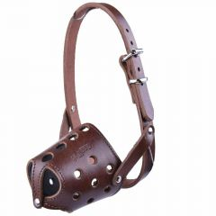 Muzzle for short noses S - GogiPet ® Genuine leather muzzle