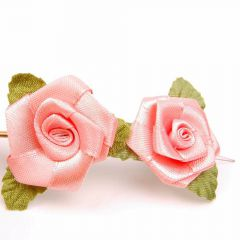 Rose jewellery for the hair in humans and animals - fuchsia rose hair accessories