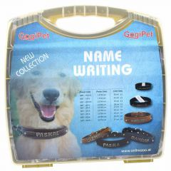 Name tag letterset in the box